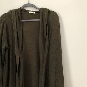 // Silence + Noise Green Hooded Cardigan